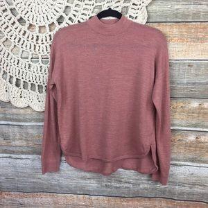 Madewell   Mock Neck Round Hem Sweater